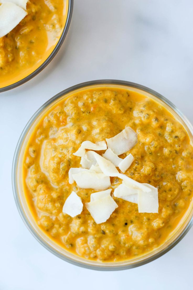 ThisCarrot Cake Chia Pudding takes the flavors of a classic dessert and turnsit into a healthy snack that ispaleo, vegan, and dairy & gluten free- Eat the Gains