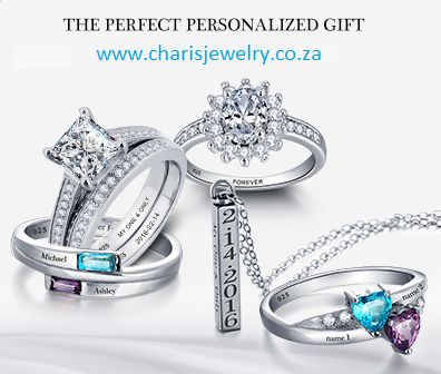 personalized rings and jewelry from www.charisjewelry.co.za