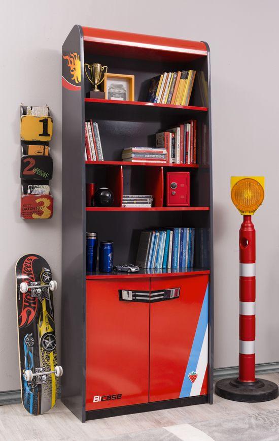 Cilek Champion Racer Bücherregal Zu dem Rennfahrer - Programm der Firma Cilek gehört natürlich auch das passende Bücherregal um alle Autobücher und Zeitschriften gebührend präsentieren zu können. Denn auch Bücher benötigen eine... #kinder #kinderzimmer #buecherregal #cilek