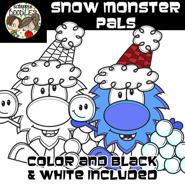 Snow Monster Pals – Scrappin Doodles