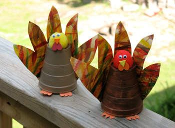 Paper Cup Turkey Craft: Thanksgiving Decorations