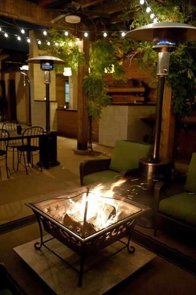 What Is Not To Love About A Roaring Fire? On The Patio At Oliva On