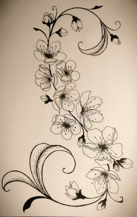 Blumenranken Tattoo: 20 beautiful templates for various parts of the body – Narc… – blumen