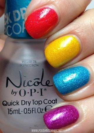 OPI I'm Brazil Nuts Over You, You're So Flippy Floppy, What's a Little Rain Forest? and Samba-dy Loves Purple with Top Coat