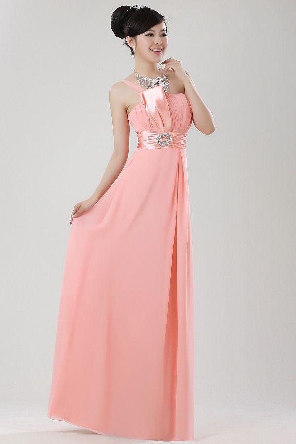 Noble Woman Evening Dresses Chiffon Lady Party Dresses Diamond On Wasit High Quality Dresses $41.12