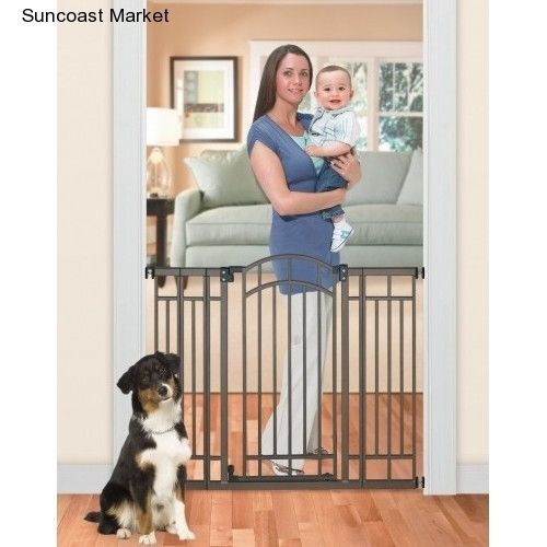 Multi-Use Deco Extra Tall Walk-Thru Gate Infant Toddlers Safety Gate Bronze #SummerInfant