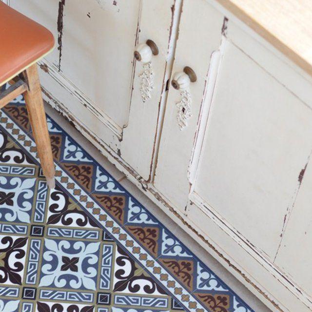 Créer l'illusion carreau ciment avec des tapis en vinyle