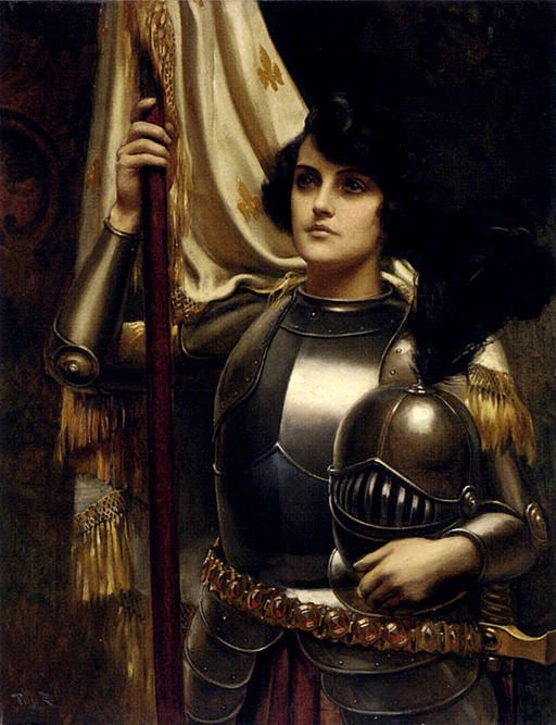 Harold Piffard, 'Joan of Arc'. A National shero of France, Joan of Arc led battle troops to free the French from the foreign power of England