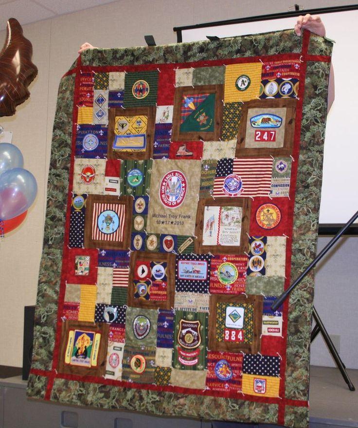 43 Best Eagle Scout Quilts Images On Pinterest Boy