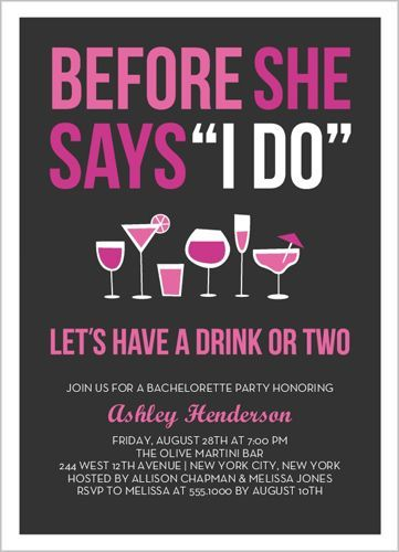 Before The I Do Bachelorette Party Invitation, very cute!