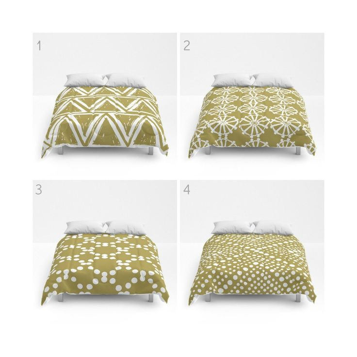 Gold and White Comforter - Queen Comforter - King Comforter - Full Comforter - Geometric Triangle Circle Dot  Bedding Bedspread Bed cover by ButtercupForrest on Etsy