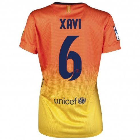 Xavi de Barcelona Mujer 2012/13 Away Camiseta fútbol online [901] - €