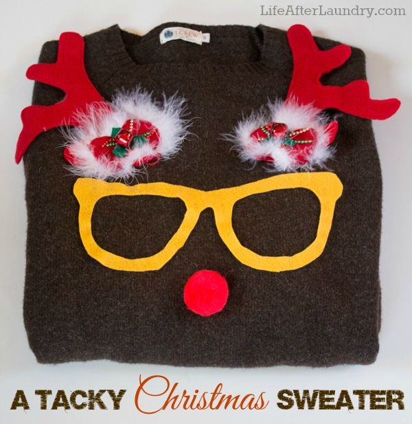 A DIY Tacky Christmas Sweater perfect for that party!