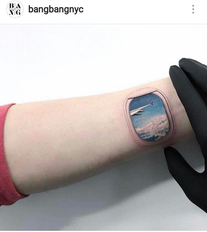 Travel tattoo by Bang Bang NY