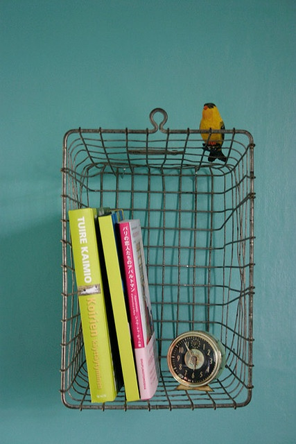 vintage basket shelf