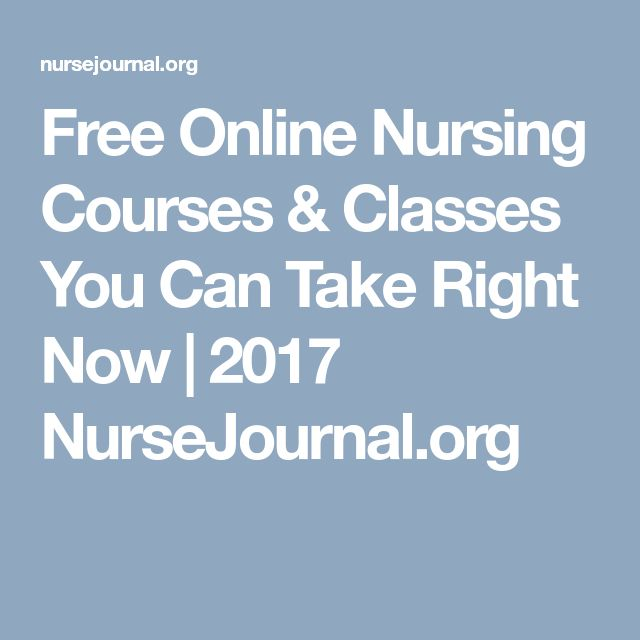 Free Online Nursing Courses & Classes You Can Take Right Now | 2017 NurseJournal.org
