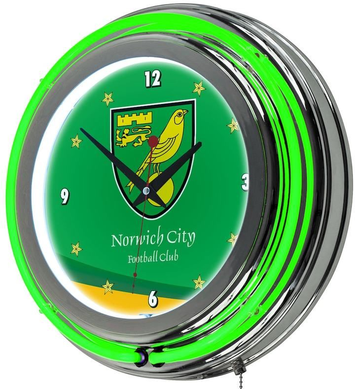Kohl's Norwich City FC Neon Wall Clock