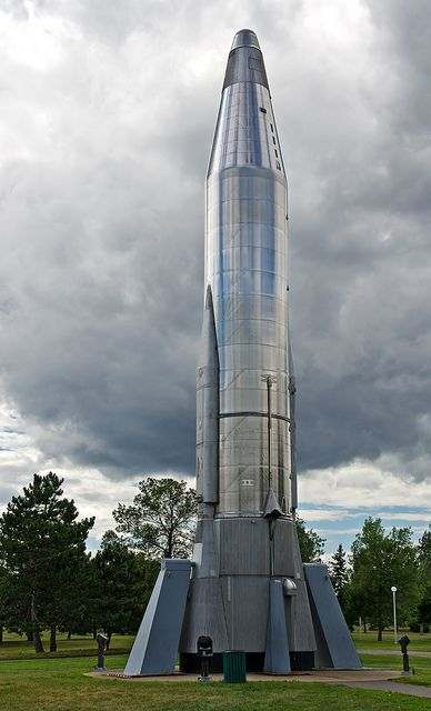 A Convair Atlas rocket on display in the Technology Park at the Canada Science and Technology Museum in Ottawa. For more information on Ottawa museums visit http://www.ottawatourism.ca/en/visitors/what-to-do/museums-and-galleries