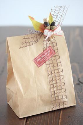 「秋のラッピング」お菓子教室SweetRibbonが提案する簡単かわいいお菓子ラッピング | お菓子・パンのレシピや作り方【corecle*コレクル】