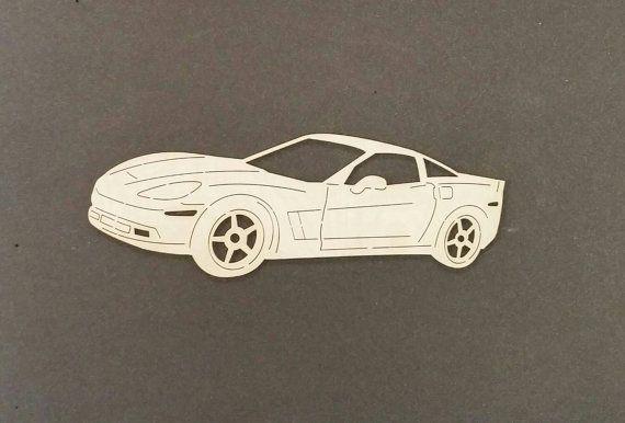 Sticker 2012 CORVETTE voiture bois de bouleau par ChildersWoodWorks