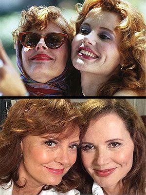 The legendary selfie! Susan Sarandon and Geena Davis Reunite for a Selfie #thelmaandlouise