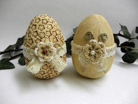 Keramická kraslice - venkovský styl velikonoce vejce velikonoční dekorace keramická kraslice