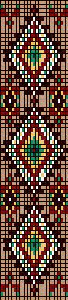 схема к ожерелью Навахо.