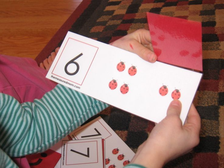 Missing Addend Activity: Ladybug flip cards! and other nice preschool/K activities