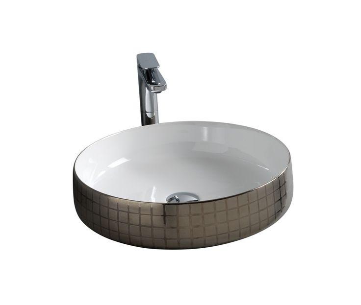COGNAC countertop washbasin #TheArtceram #platinum #bathroom #design - Thin-rim washbasins #decor
