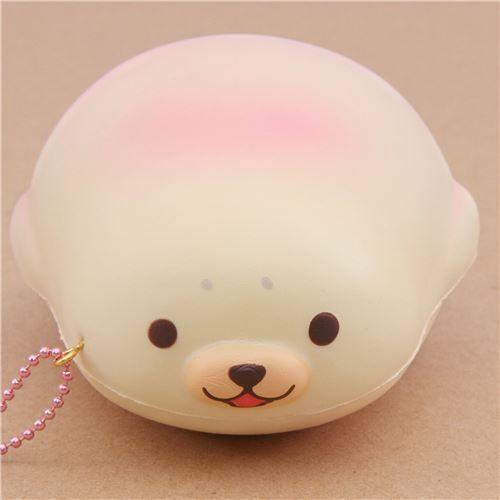 cute cream-pink mochi seal animal scented squishy by Puni Maru 1