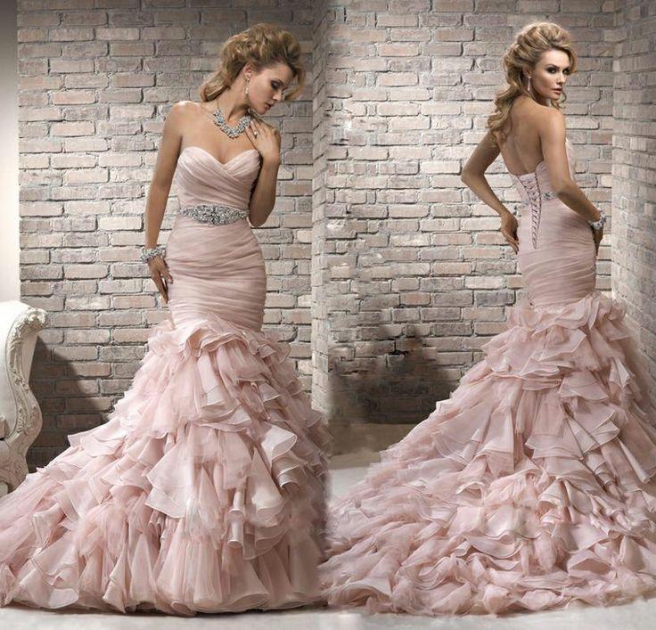 116 best Only Pink Wedding Dresses images on Pinterest