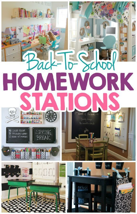 15 AWESOME Back-To-School Homework Stations. What clever ideas for back to school organization.