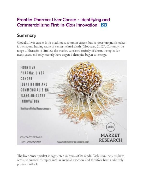 Frontier Pharma: Liver Cancer - Identifying and Commercializing First-in-Class Innovation