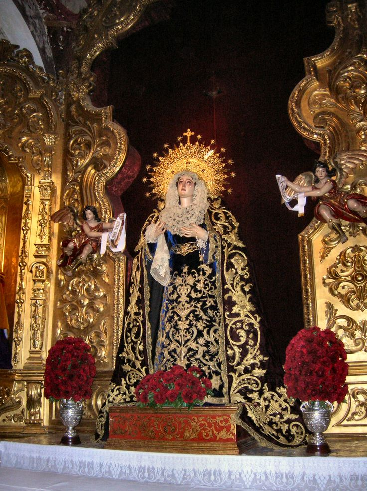 Our Lady of the Rosary, Church of San Pedro, Seville, Spain.