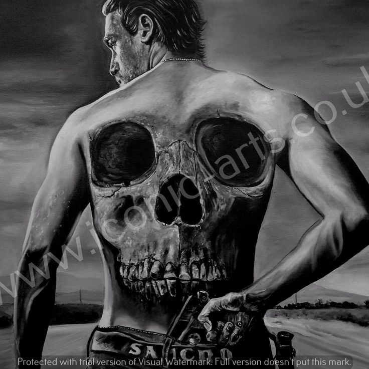 "Sons of anarchy , samcro, Charlie Hunnam, 24"" x 30"" oils on box canvas."