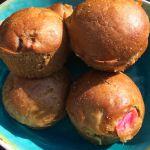 Gezonde rabarbermuffins