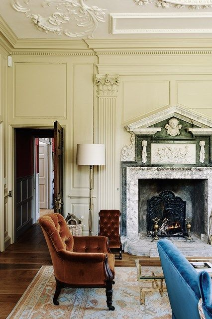 Morning Room Fireplace   A Painstakingly Restored Georgian House Nestled In  A Somerset Valley. The