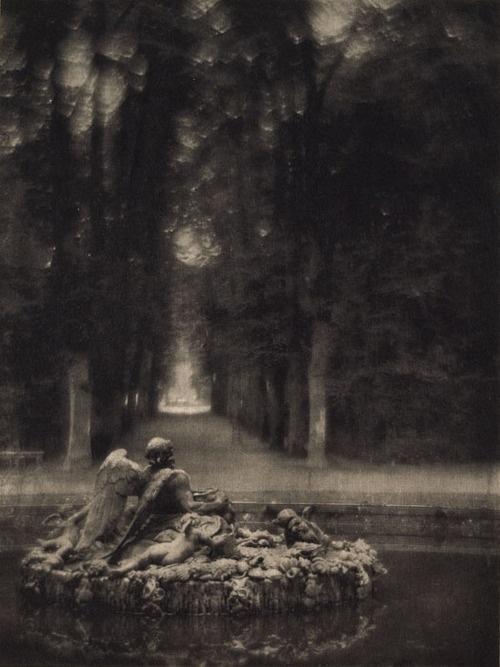 the Fountain of Saturn...1912...Baron Adolf DeMeyer...angel