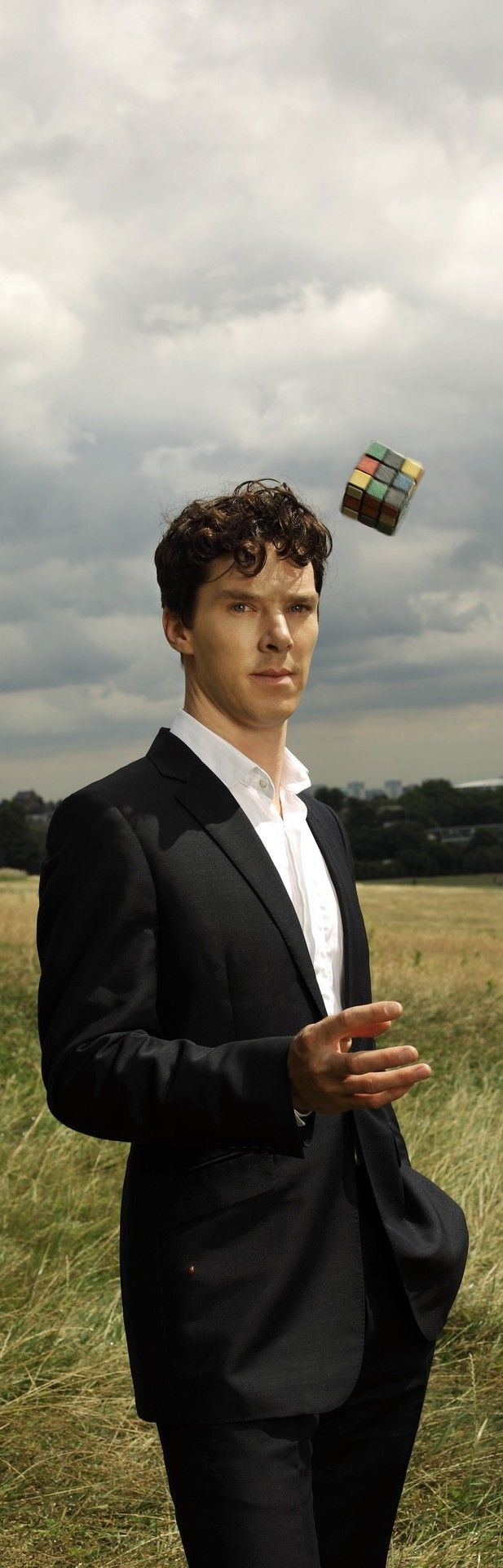 Benedict Cumberbatch telekenesis: because on the 40th birthday of the Rubik's cube, solving it is not enough.