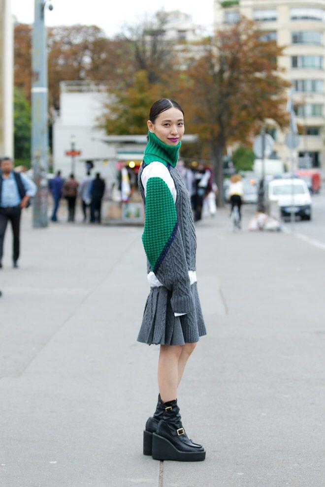 Street Style of Tokyo: Erika Toda 戸田恵梨香 in sacai | Fashionsnap.com