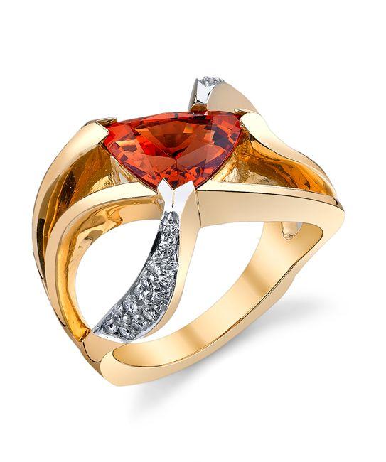 Mandarin Garnet Ring | Mark Schneider Design