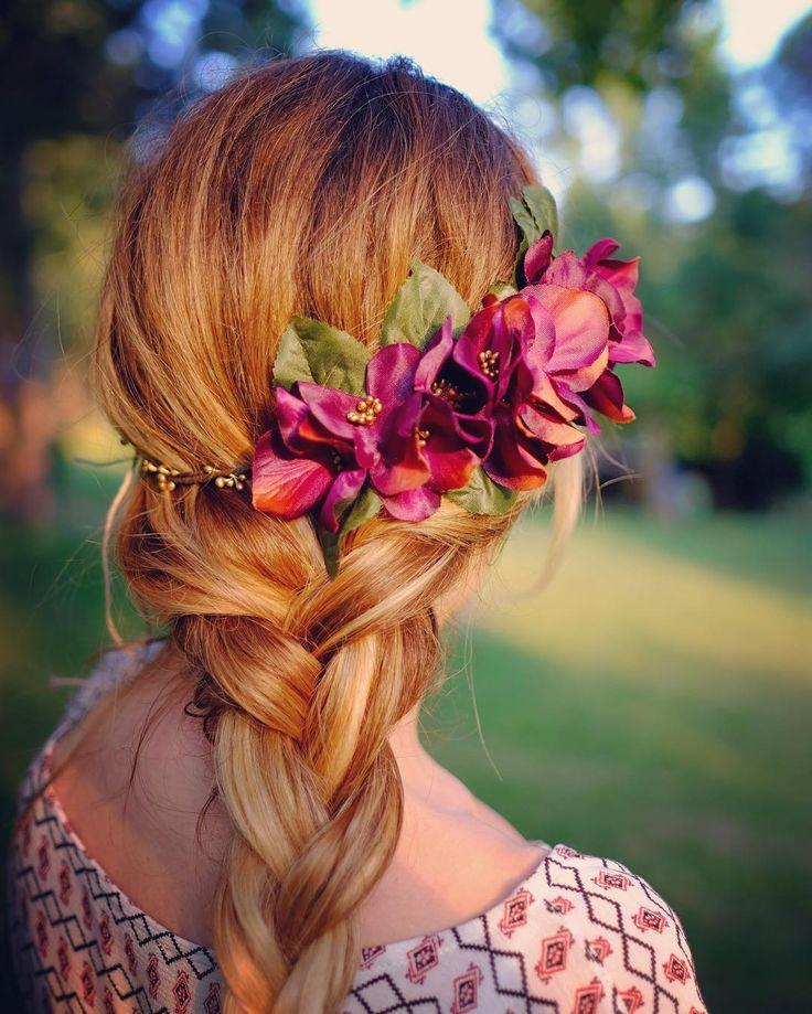 Flower Crown, Boho Hair Style