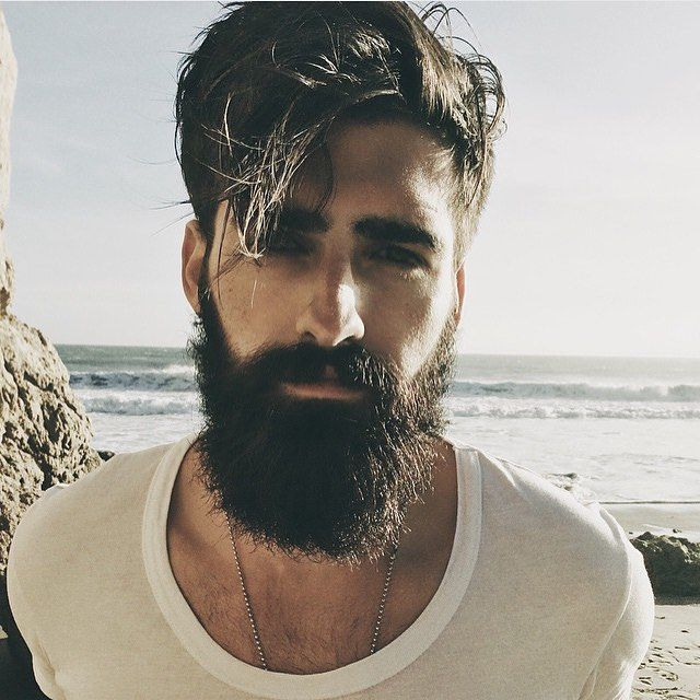 What an awesome look. Amazing beard, amazing hair. Love it!