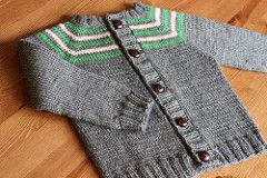 """A seamless raglan cardigan knit from the top-down using worsted weight yarn, Wonder Years toddler/child cardigan is inspired by my """"Little Coffee Bean"""" baby cardigan but sized for older children (from 2T-10 years)."""