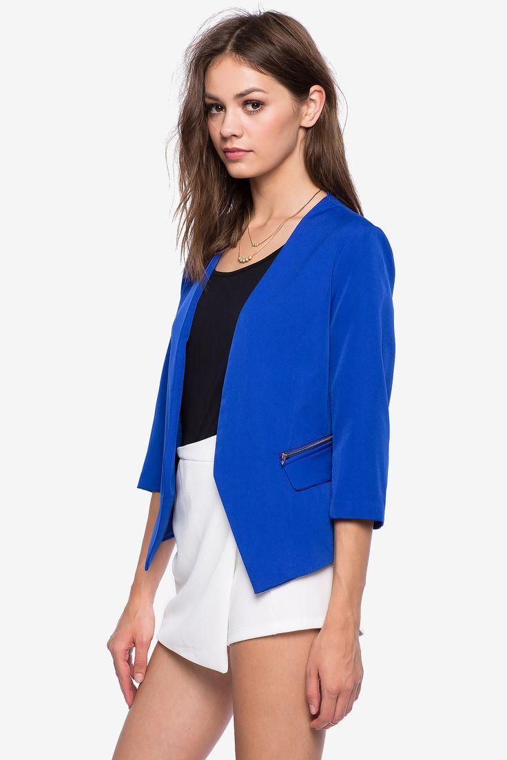 Блейзер Размеры: S, M, L Цвет: ярко-синий, малиновый Цена: 775 руб.     #одежда #женщинам #блейзеры #коопт