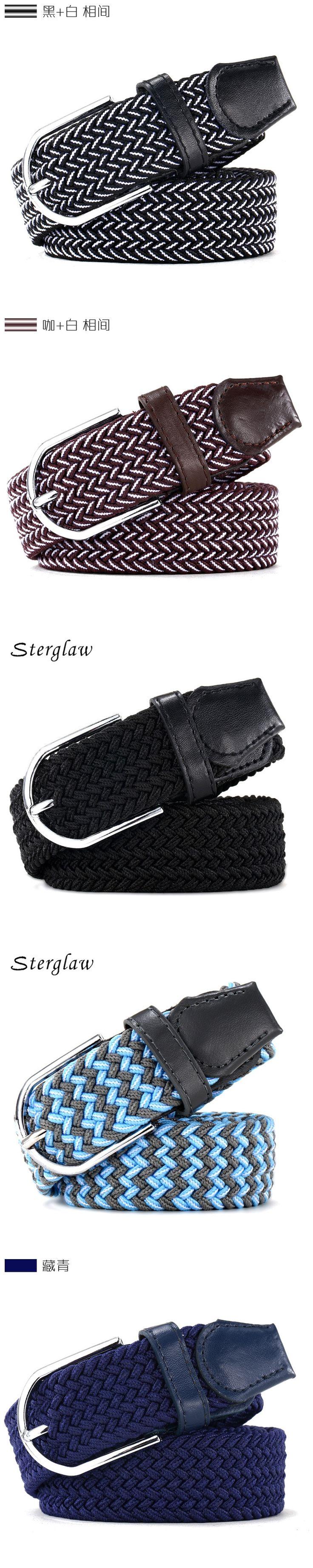 110cm Russia fashion Casual stretch woven belt Women's unisex Canvas elastic belts for women jeans elastique Modeling belt  F142