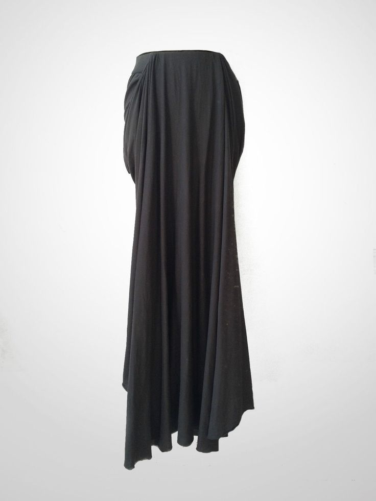 NEW Silent Damir Doma Brown Draped Maxi Skirt With Short Back With Label | eBay