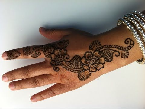 How to draw Simple floral henna design (Mehendi) Part I - YouTube