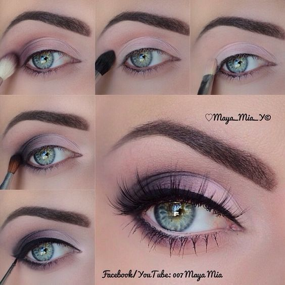 nice 20 Easy Purple Smokey Eye Makeup Tutorial Check more at http://www.ciaobellabody.com/purple-smokey-eye-makeup-tutorial/