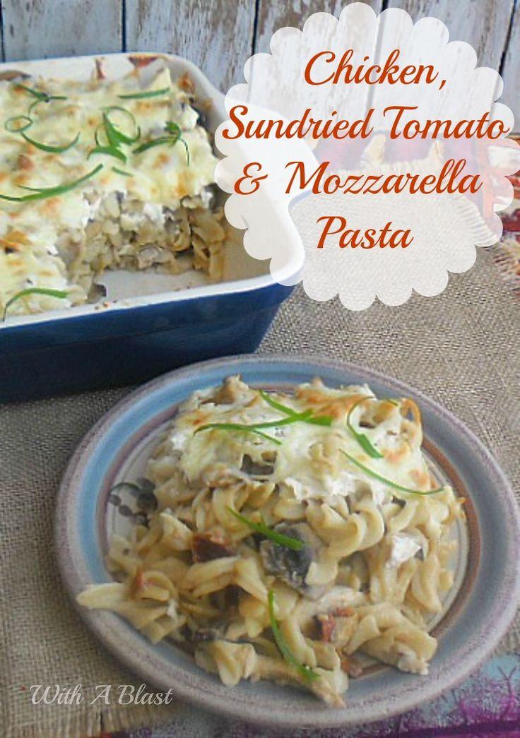 Chicken Sundried Tomato and Mozzarella Pasta ~ Creamy, delicious and so full of flavor ~ large dish recipe ! #ChickenRecipe #PastaDish #PastaChicken